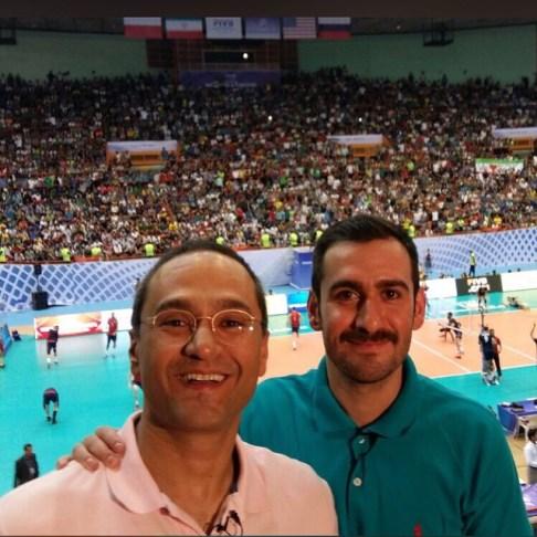 رامبد جوان و نیما شعبان نژاد در ورزشگاه آزادی