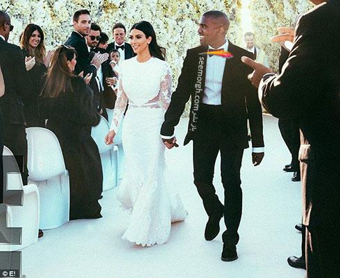 لباس عروس کیک کارداشیان kim kardashian