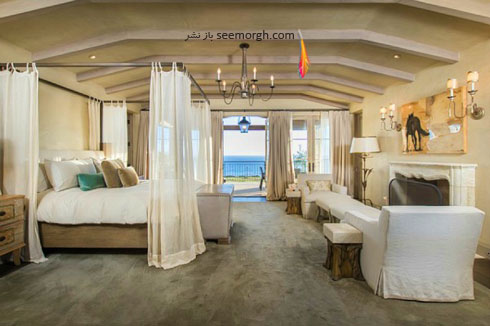 دکوراسیون داخلی اتاق خواب خانه لیدی گاگا Lady Gaga