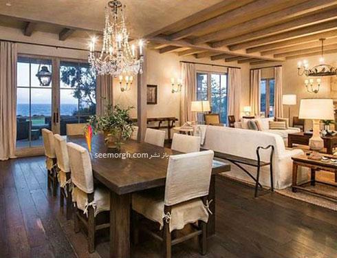 عکس دکوراسیون داخلی اتاق ناهارخوری خانه لیدی گاگا Lady Gaga