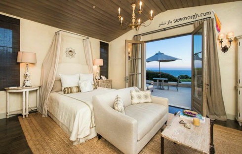 کوراسیون داخلی اتاق خواب میهمان خانه لیدی گاگا Lady Gaga