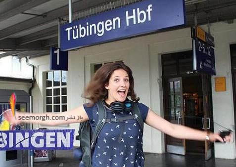 عکس دختری که در قطار زندگی می کند