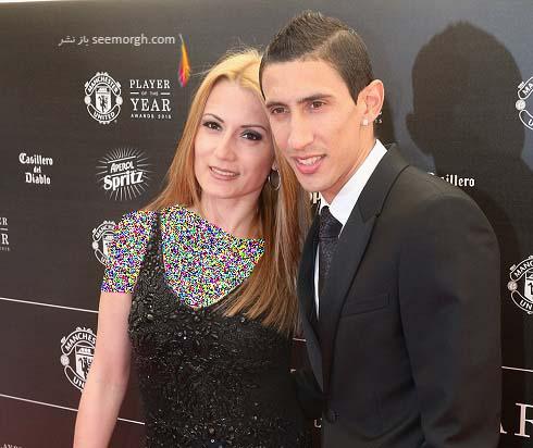 آنخل دی ماریا و همسرش