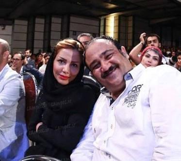 مهران غفوریان در کنار همسرش