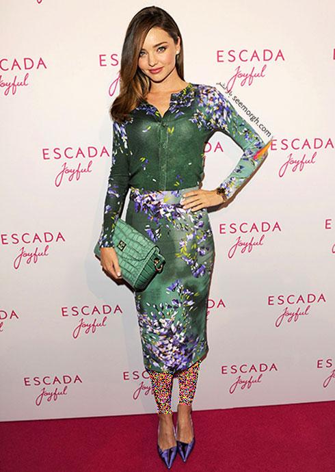 لباس طراحی شده اسکادا Escada برای میراندا کر Miranda Kerr
