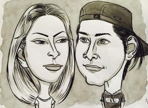 کاریکاتور محسن یگانه و همسرش ! + عکس