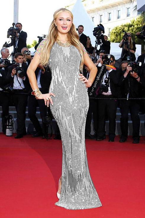 Paris Hilton بترین لباس در جشنواره کن 2015