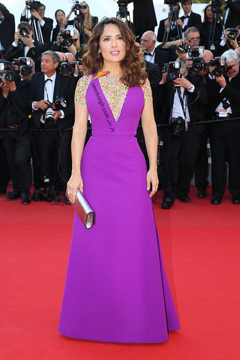 Salma Hayek بهترینمدل لباس در جشنواره کن 2015