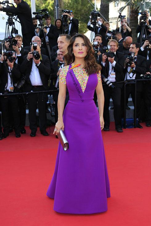 مدل لباس سلما هایک Salma Hayek در جشنواره کن 2015