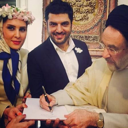 مراسم ازدواج و عقد سام درخشانی و همسرش