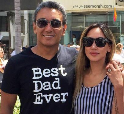 شادمهر عقیلی و همسرش ملینا