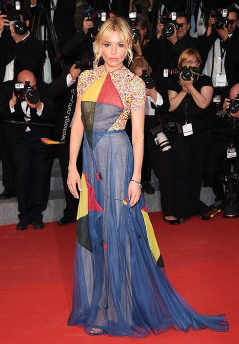 مدل لباس سینا میلر Sienna Miller در جشنواره کن 2015