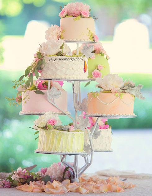 تزیین های مختلف کیک با گل های طبیعی
