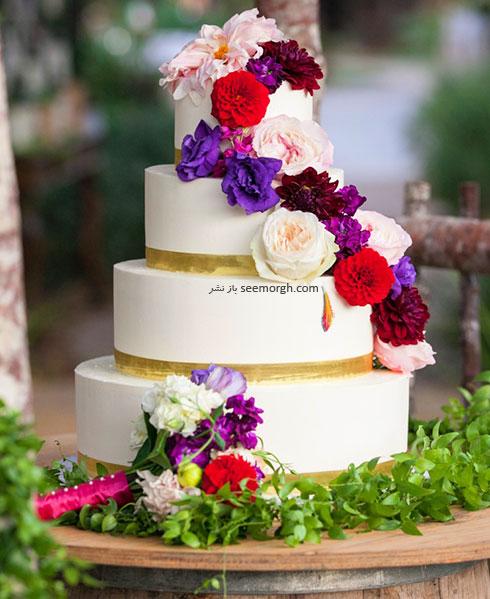 گل های طبیعی و تزیین کیک