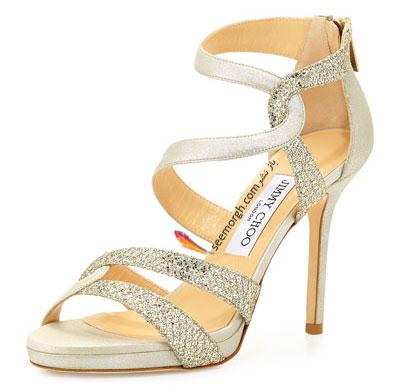 کفش عروس طرح دار از خانه مد انگلیسی Jimmy Choo برای تابستان 2015