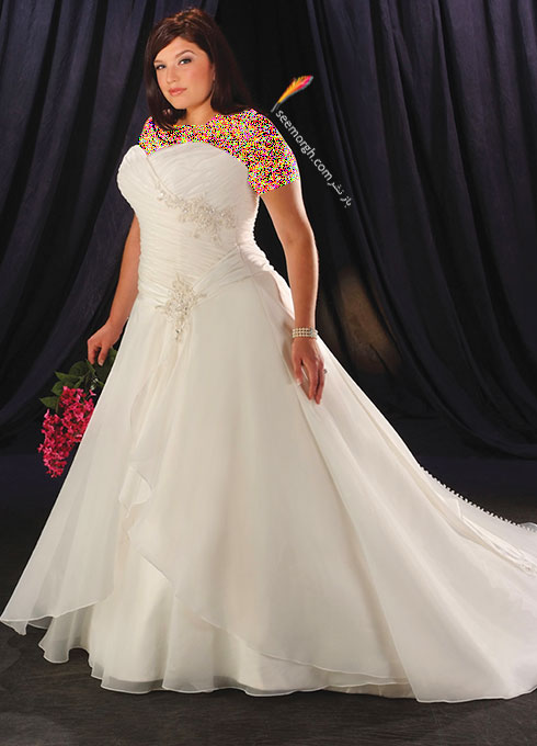 زیباترین مدل های لباس عروس برای خانم ها سایز بزرگ