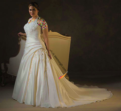 مدل های لباس عروس برای دختر خانم های سایز بزرگ