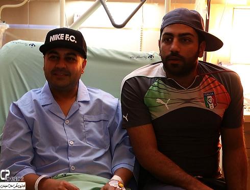 بهنام صفوی و سامان گوران در بیمارستان
