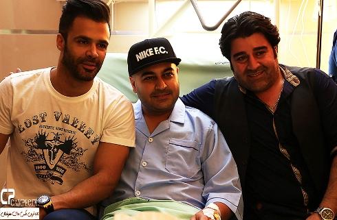 مهدی یغمایی، بهنام صفوی و سیروان خسروی در بیمارستان
