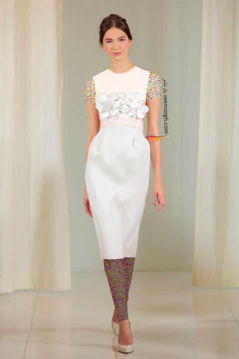 لباس عروس کوتاه در هفته مد لندن - مدل شماره 3