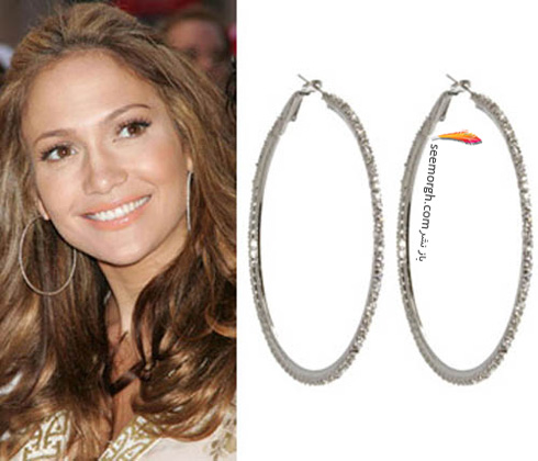 گوشواره حلقه ای جنیفر لوپز Jennifer Lopez