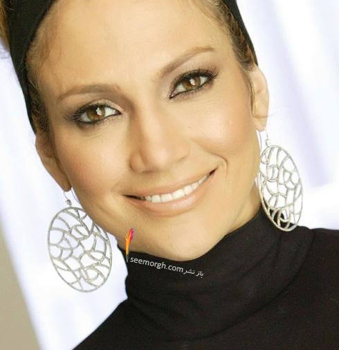 گوشواره حلقه ای طرح دار جنیفر لوپز Jennifer Lopez