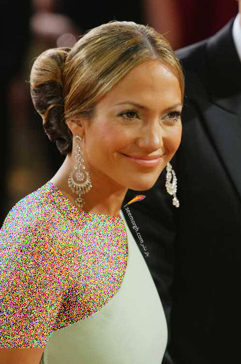 گوشواره طلا سفید نگین دار جنیفر لوپز Jennifer Lopez