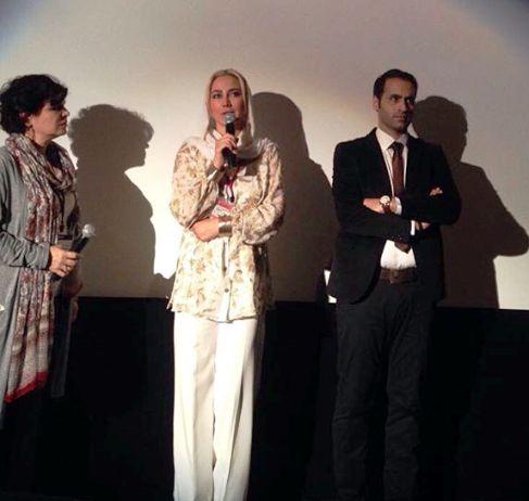 آنا نعمتی درحال صحبت درباره فیلم انارهای نارس