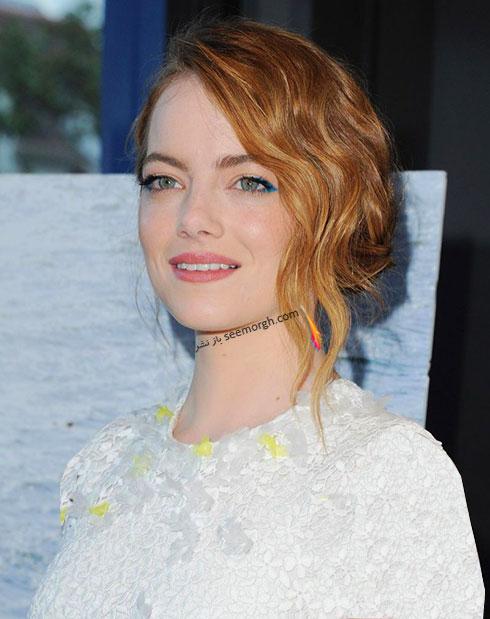 رنگ موی قهوه ای مسی اما استون Emma Stone برای زمستان