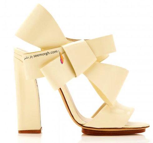 کفش عروس مدل پاپیون برای پاییز 2015