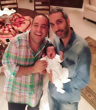 امیرمهدی ژوله و دخترش به همراه علی اوجی