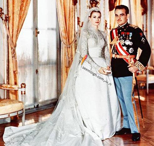 لباس عروس گریس کلی Grace Kelly به ارزش 65 هزار دلار در سال 1956
