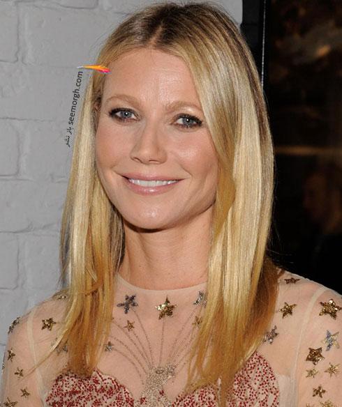 رنگ موی قهوه ای طلایی گوئینت پالترو Gwyneth Paltrow برای زمستان