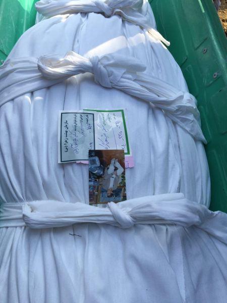 تصویر افشین قطبی همراه با مادرش به خاک سپرده شد