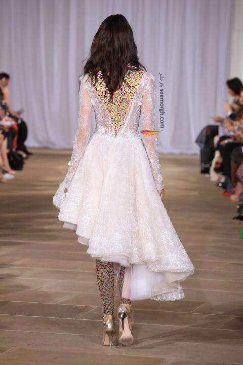 لباس عروس کوتاه در هفته مد لندن - مدل شماره 5