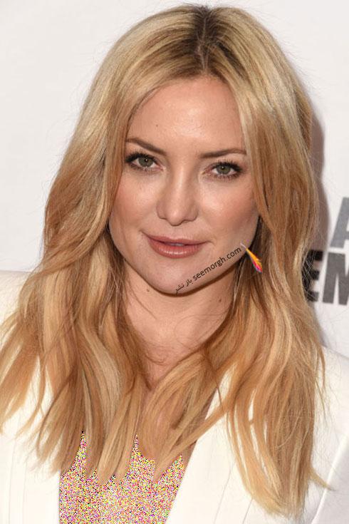 رنگ موی بلوند برای زمستان 2015 به سبک کیت هادسون Kate Hudson