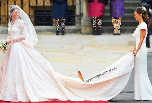 لباس عروس کیت میدلتون به قیمت 400 هزار دلار طراحی شده توسط سارا بورتون Sarah Burton