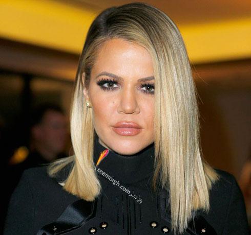 رنگ موی بلوند کلویی کارداشیان khloe kardashian برای زمستان