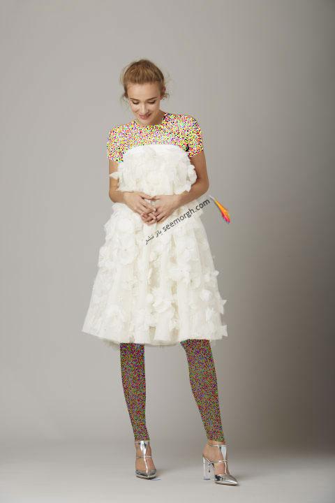 لباس عروس کوتاه در هفته مد لندن - مدل شماره 6
