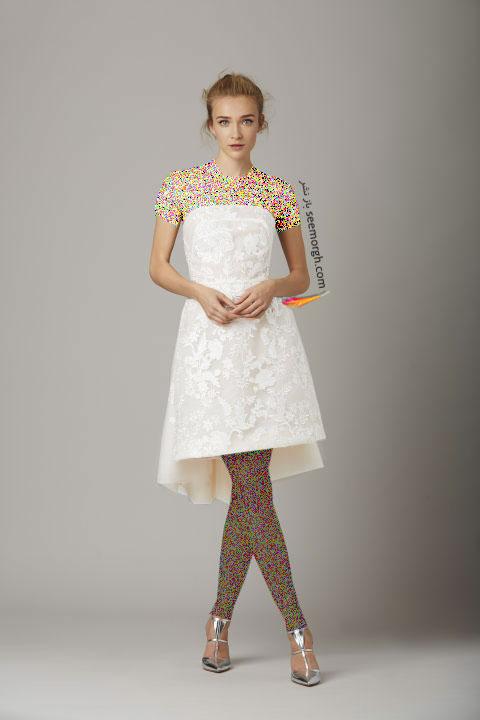 لباس عروس کوتاه در هفته مد لندن - مدل شماره 7