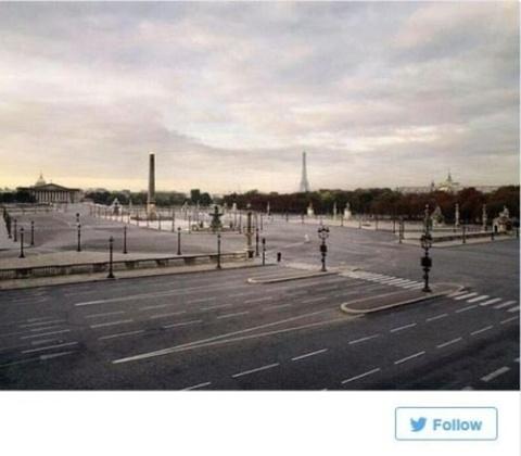 خیابانهای خالی پاریس