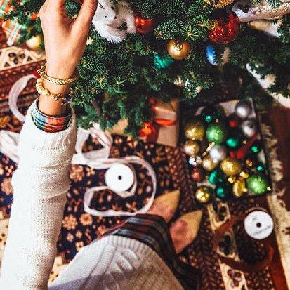 درخت کریسمس در منزل مریم معصومی