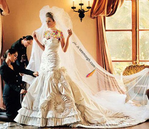 لباس عروس ملانیا نائوس Melania Knauss به قیمت 200 هزار دلار – طراحی شده توسط کریستین دیور Christian Dior در سال 2005