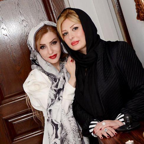 عکس نیوشا ضیغمی در کنار پزشک کلینیک زیبایی نیوشا