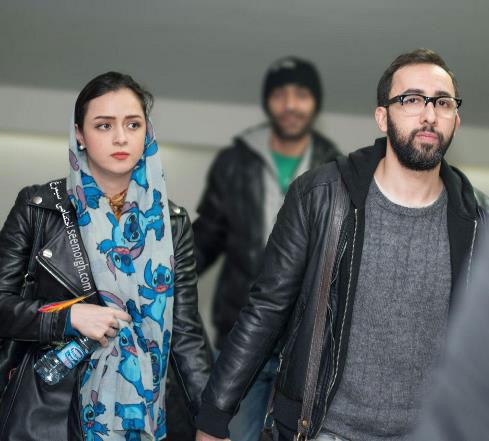 """ترانه علیدوستی و همسرش در اکران خصوصی فیلم سینمایی """"بهمن"""" -3"""