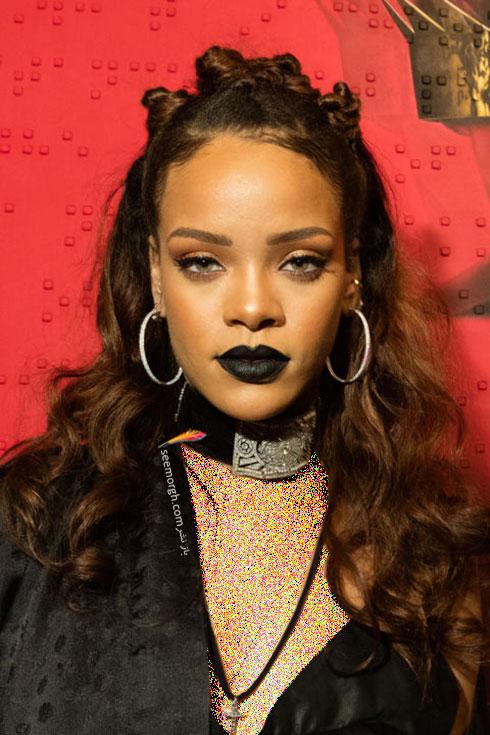 رنگ موی قهوه ای تیره برای زمستان 2015 به سبک ریحانا Rihanna
