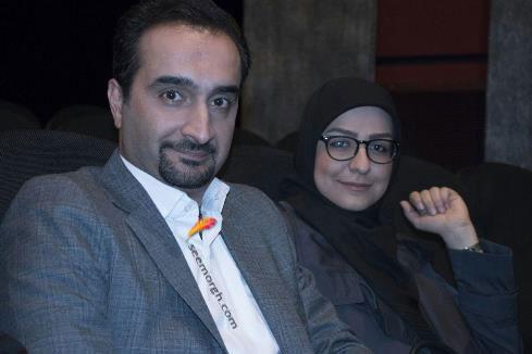 """نیما کرمی و همسرش در اکران خصوصی """"چهارشنبه 19 اردیبهشت"""""""