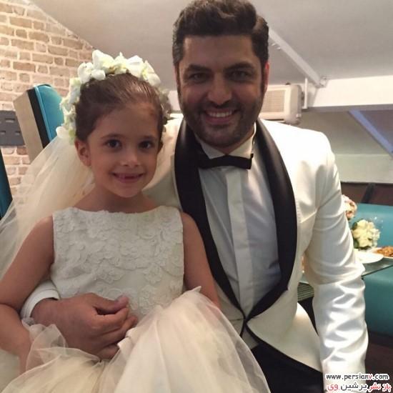 نفس بازغی ، دختر پژمان باغی در عروسی سام درخشانی