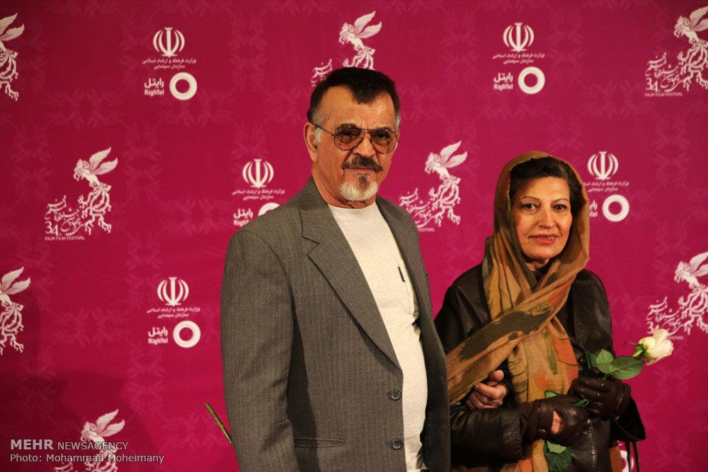 مهدی فخیم زاده و همسرش در جشنواره فیلم فجر34