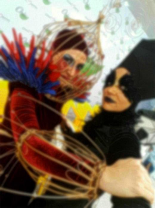 بالماسکه و هالووین در دانشگاه الزهرا!+ عکس